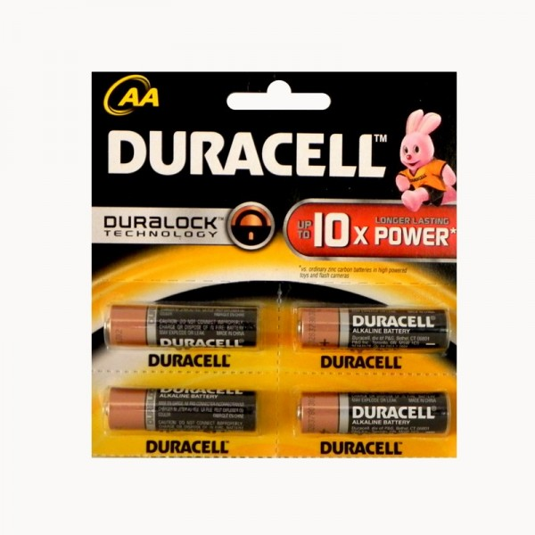 Duracell AA Batteries MRP 30/-